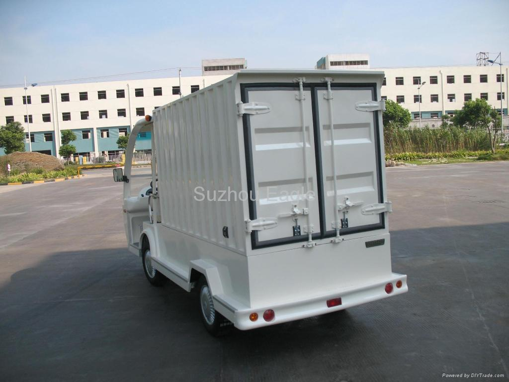 Electric Shuttle Bus with container box 2