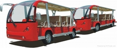 CE Approved Electric minibus with trailer