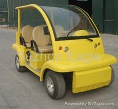 CE Approved Electric Passenger Car with Solar Panel