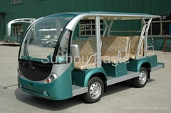 CE Approved 11 Seater Electric Shuttle Bus