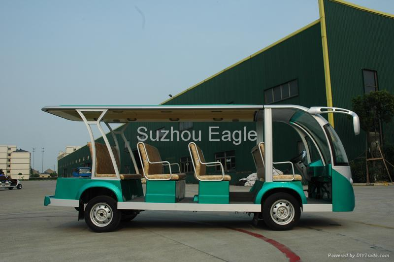 CE Approved 11 Seats Electric Shuttle Bus 3