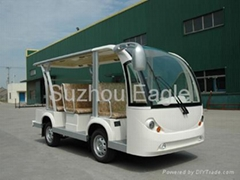 CE Approved 8 Seaters Electric Shuttle Bus