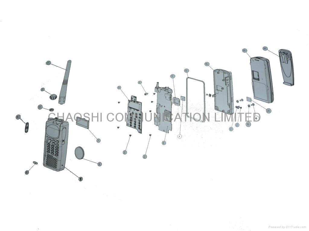 two way radios housing for motorola gp340 - 1580666z03  china manufacturer