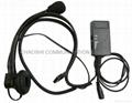 建伍声控/PTT头载式耳机KHS-1 1