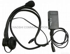 建伍聲控/PTT頭載式耳機KHS-1