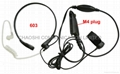 Throat Mic with Acoustic Tube Earpiece with finger PTT
