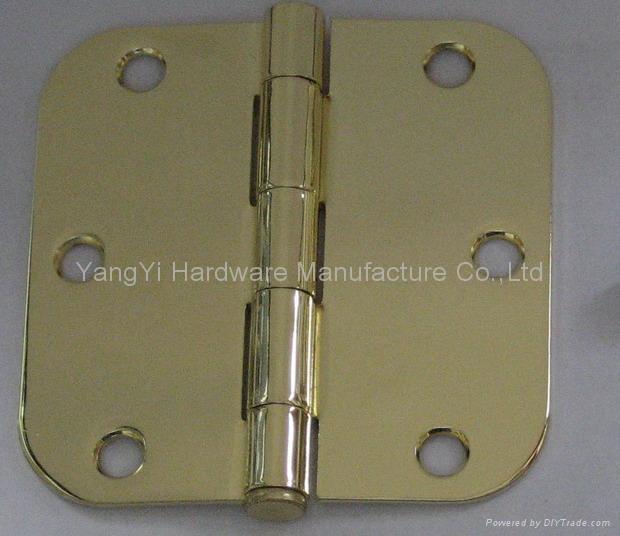 SH042235-5/8R LP PB steel hinge with loose pin