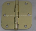 SH042235-5/8R LP PB steel hinge with