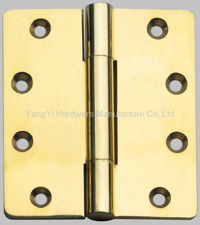 BH30435 3KN PL Brass Three-Knuckle Hinge 1