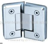 YY-002 135°Glass Bathroom Hinge(double side)