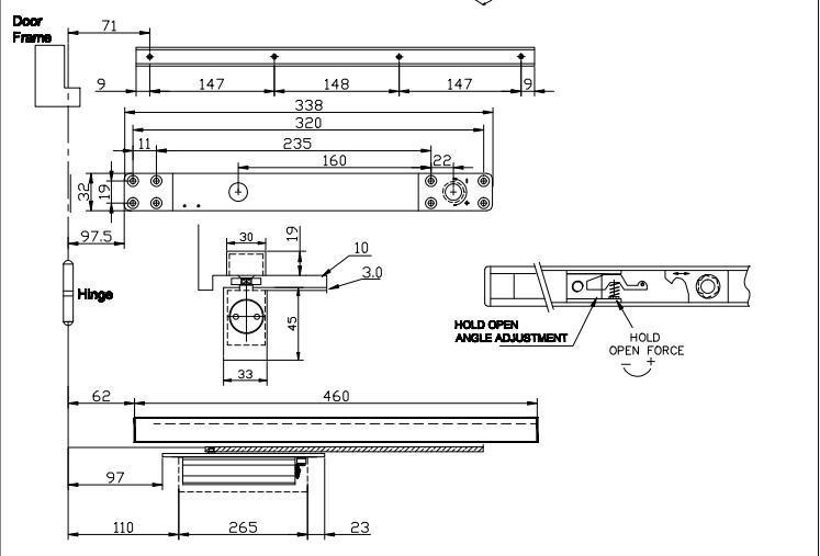 DC-4800ADS 隱藏式閉門器(可調力) EN2-EN3 2