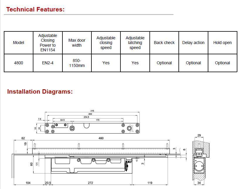 DC-4800ADS 隐藏式闭门器(可调力) EN2-EN3 3