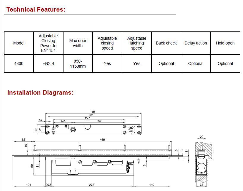 DC-4800ADS 隱藏式閉門器(可調力) EN2-EN3 3