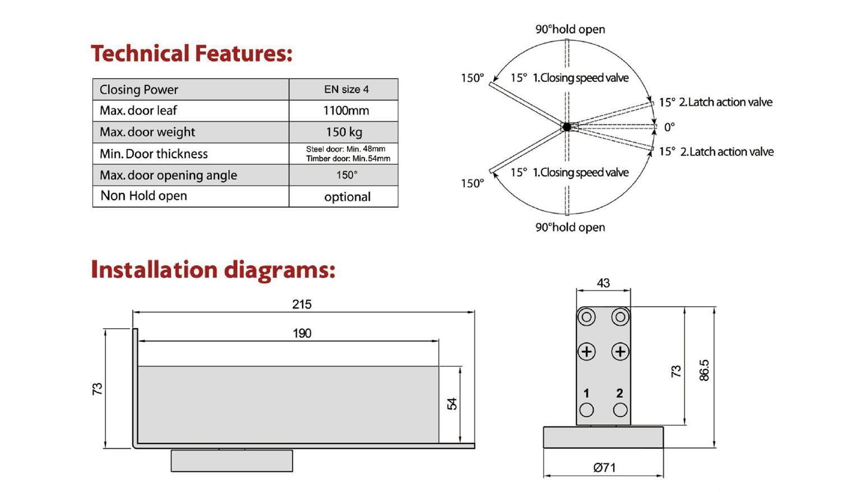 7504 Conceal Door Closer/Hydraulic Patch 2