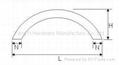 SKFH-06 Stanless Steel Curved Handle