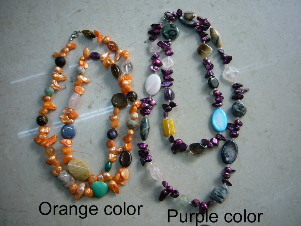 Gemstone with pearl necklace  2