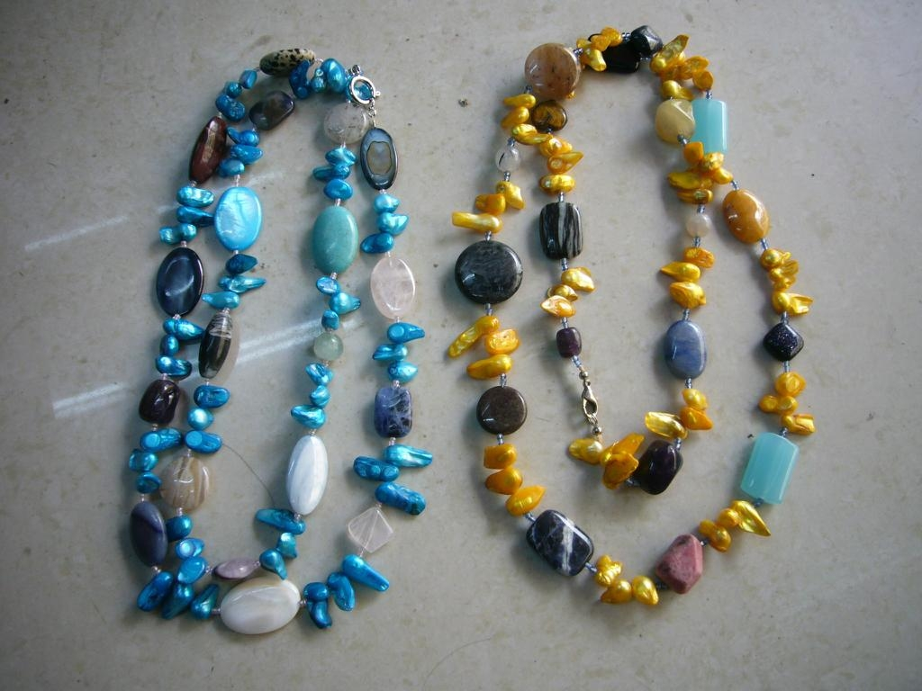 Gemstone with pearl necklace  5