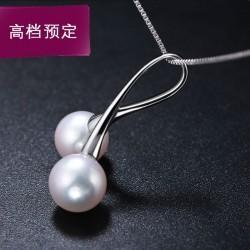 七夕情人节礼物天然珍珠吊坠项链 4