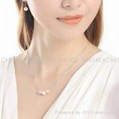 七夕情人节礼物珍珠吊坠银项链