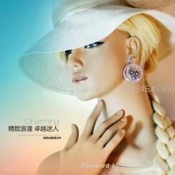 七夕情人节礼物雏菊花锆石耳环 4