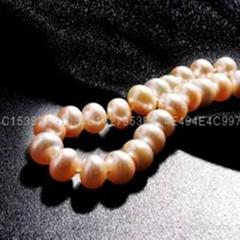 七夕情人節禮物粉色淡水珍珠手鏈