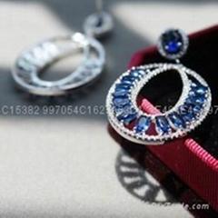 环形七夕情人节礼物锆石耳环