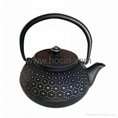 0.3 liter cast iron teapot with tortoise shell design