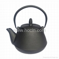 1 Liter cast iron teapot with pleasing