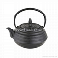 0.7 liter tetsubin style cast iron teapot with removable s/s filter 1