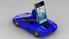 蘭博基尼帶iphone插座車模迷你音箱帶FM,支持U盤,TF卡