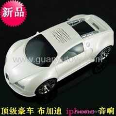 2013Newest bluetooth Bugatti car speaker with FM radio,USB/TF card,iphone socket