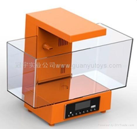 新款时尚迷你鱼缸,LED时钟显示,收音机 4