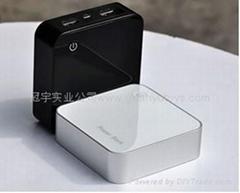 A品電芯3600mah新款時尚移動電源 數字顯示移動電源 雙USB輸出