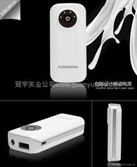 新款A品電芯2400mah魚嘴移動電源  便捷手機充電寶