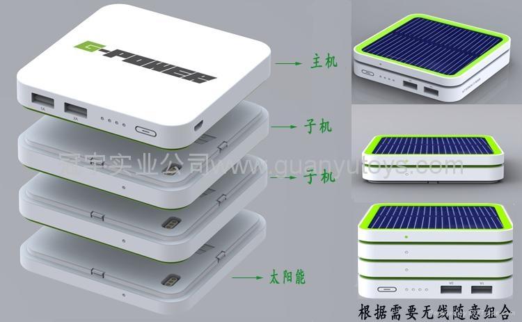 新款主机6000mAh太阳能移动电源  5