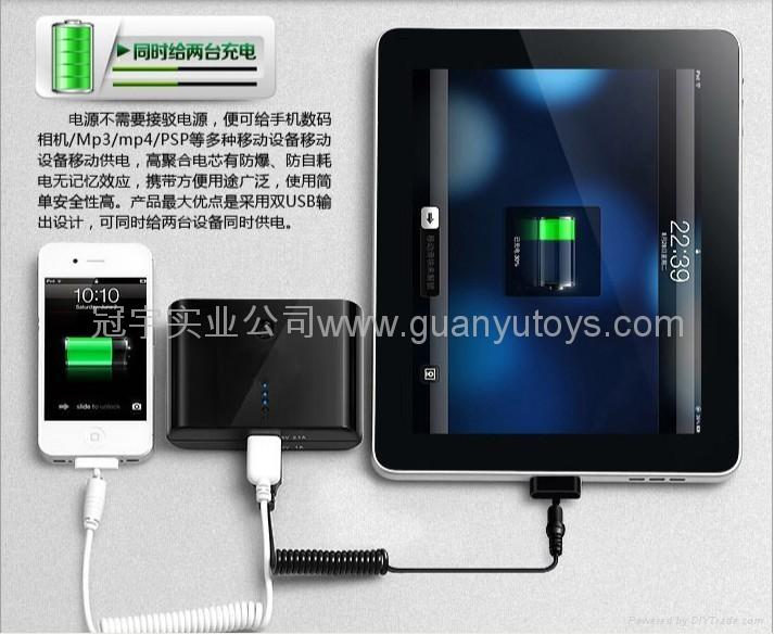 10800mAh便捷馒头移动电源  时尚手机/MP3/MP4充电宝 3