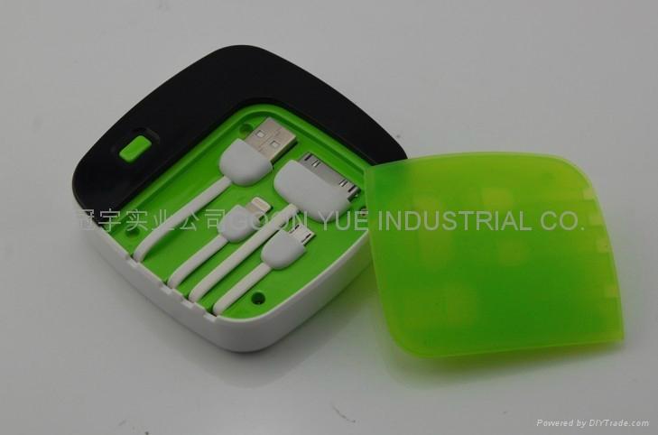 厂家供应高品质大容量聚合物电芯移动电源 5000毫安充电宝 3