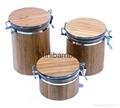 bamboo bath salt jar
