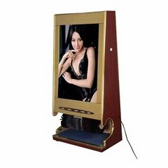 单画面广告灯箱型擦鞋机