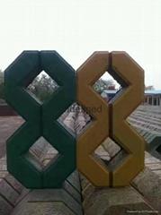 八字草坪磚