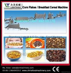 Corn flakes ( breakfast cereals) processing line
