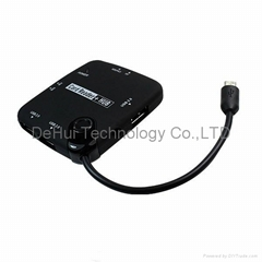 OTG USB Hub and Card Reader for Samsung galaxy S4/S3/Note 2