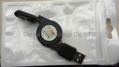 Magnetic retractable USB Charger Cable For Sony Xperia Z1 L39h/Z2/Z3 etc