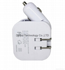 2 in 1 Dual USB Car  Charger and Travel Charger 2.1A output