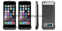 3200mah power pack for iphone 6 with led battery indication