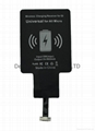 qi wireless charging receiver for Micro-USB 5pin smartphone/cellphone