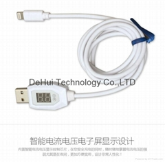 digital indicator usb date cable for iphone 5/iphone 6/ipod touch 5 etc