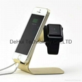 Aluminum charging stand for apple iwatch/iphone