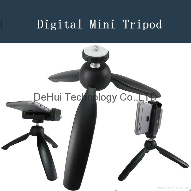 Mini Tripod for Selfie stick & Camera & Cell phone