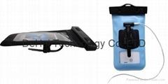 IPX8 Waterproof bag with bike mount and waterproof headphone adapter